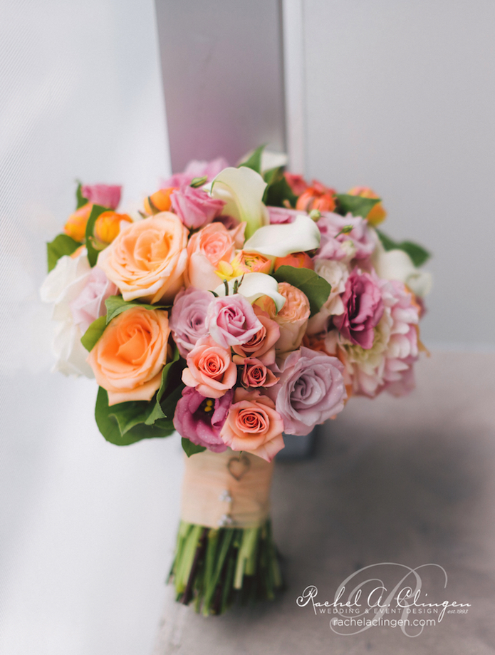Pink Coral Wedding Flowers Toronto Rachel A. Clingen
