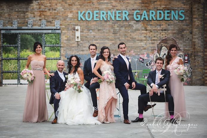 Seychelles and Eriks gorgeous wedding at the Burroughes event venue in Toronto is the perfect blend of rustic chic elements. Designed by wedding planner Laura from Laura & Co. as well as wedding designer Rachel A. Clingen both of Toronto.