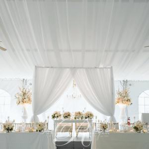 Ceiling draping Royal Ambassador weddings Toronto
