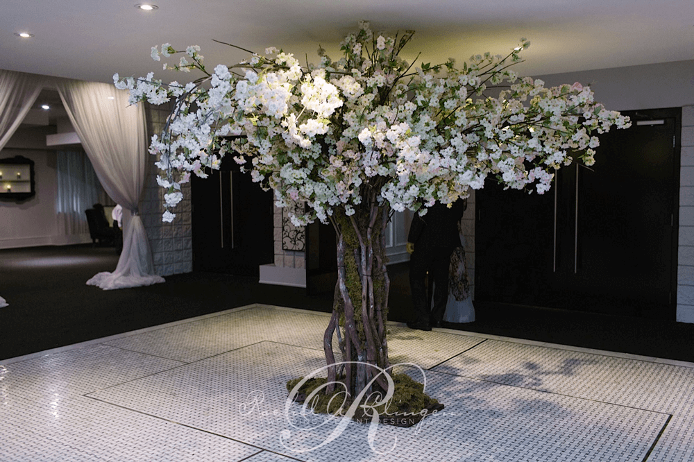 Cherry Blossom Flower Tree Grand Luxe Wedding Toronto
