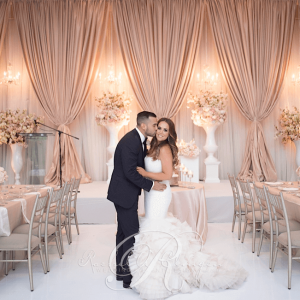 Floor to ceiling wedding backdrops & draping Toronto