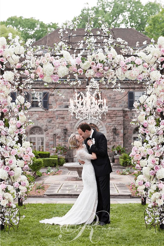 Floral Chuppah Toronto Wedding Ceremony