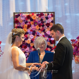 Flower Wall Wedding Ceremony Toronto