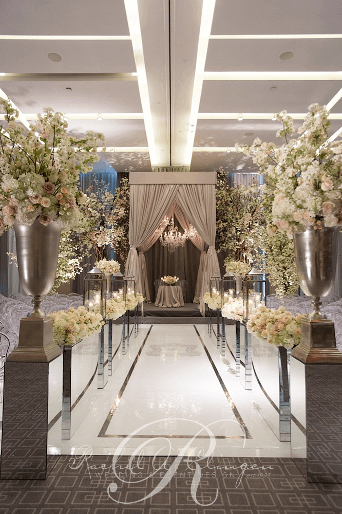 luxury seasons weddings four toronto decor aisle event decorations events rachel reception clingen ceremonies july