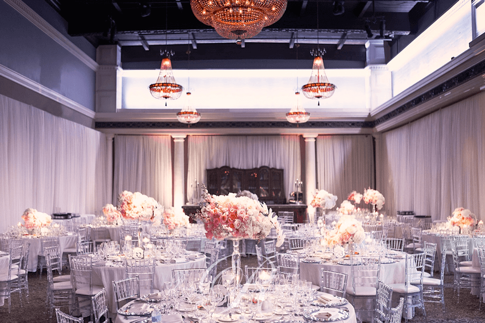 Full room draping Liberty Grand wedding Toronto