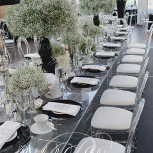 Wedding head table design at the Burlington Centre for the Performing Arts by Rachel A. Clingen Wedding Design and Decor