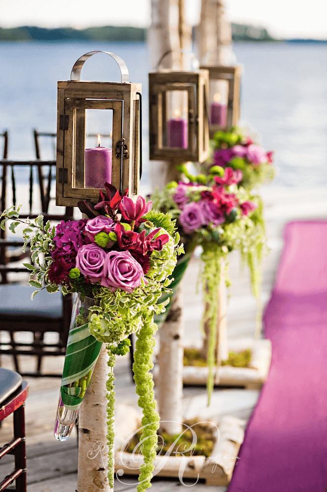 Fine details wedding decor toronto rachel a clingen wedding muskoka wedding detail purple candle lanterns junglespirit Gallery