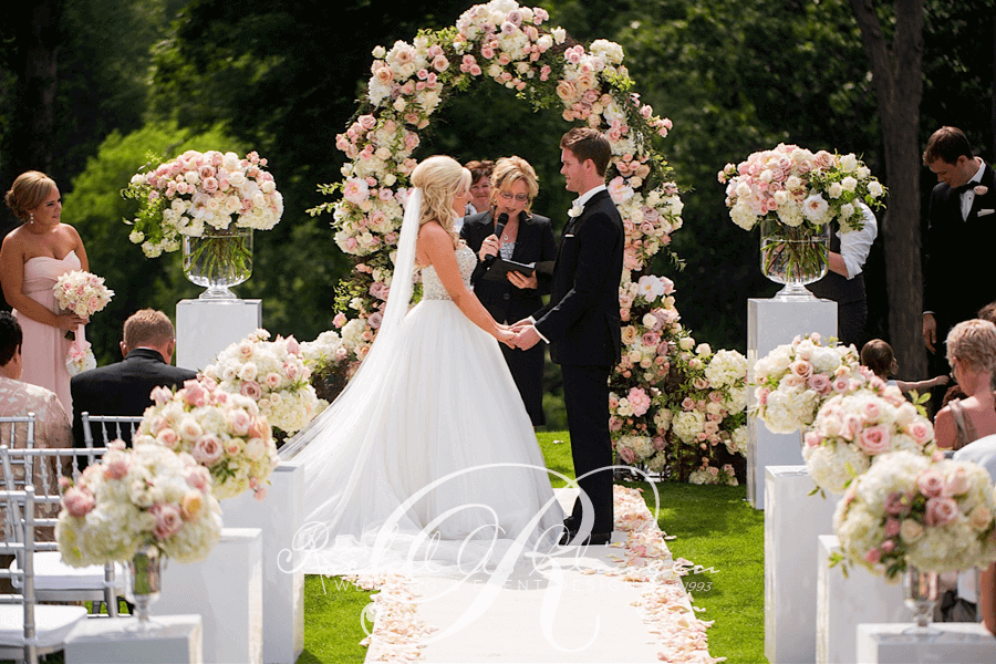 An Outdoor Wedding Ceremony At Londons Hunt Club