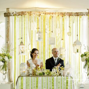 Stunning Wedding Backdrop by Rachel A. Clingen Wedding Design & Decor