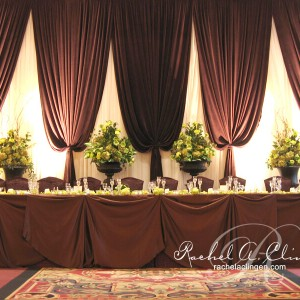 Elegant, muted tones for wedding backdrops in Toronto by Rachel A. Clingen Wedding Design & Decor
