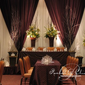 Drapes and greenery for wedding backdrops Toronto