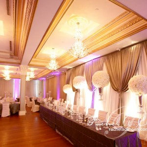 Illuminated wedding backdrops and draping Toronto Muskoka and Montreal