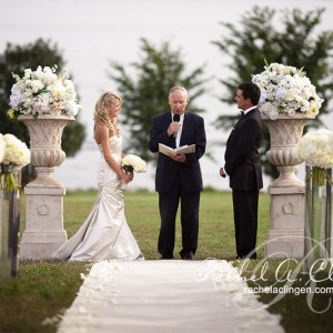 Outdoor wedding flowers for Toronto wedding ceremony
