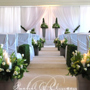 Sculpted topiary wedding ceremony Toronto