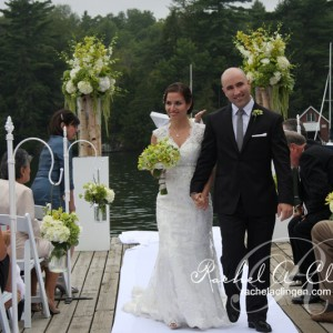 Towering floral wedding on the water Toronto