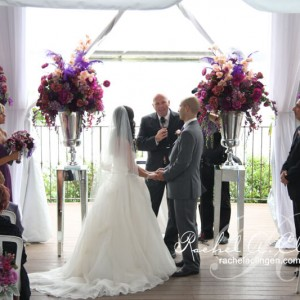 Elegant wedding flowers in shades of purple Toronto
