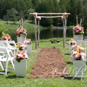 Rustic outdoor garden wedding ceremony Toronto