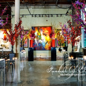 Modern art inspired wedding ceremony and flowers Toronto