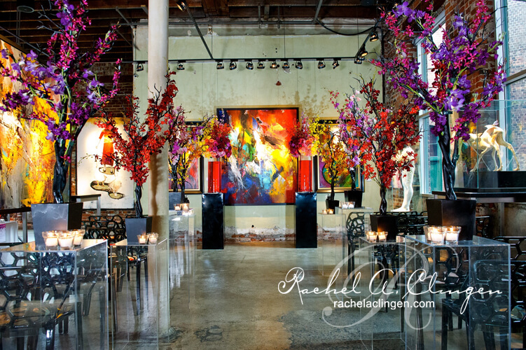 A Modern White Wedding Ceremony: Modern Art Inspired Wedding Ceremony And Flowers Toronto