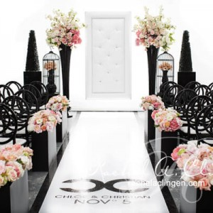 Coco Chanel inspired wedding ceremony