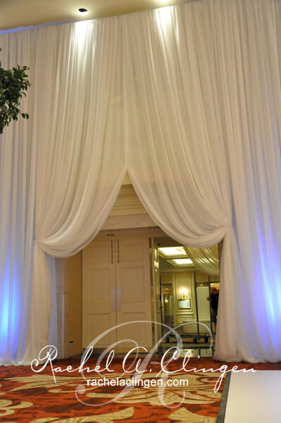 Room transforming event draping by Rachel A. Clingen Wedding Design & Decor and Eventure Event Draping