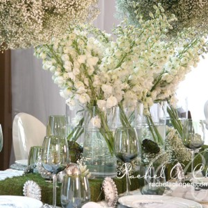 White lilies and greenery head table design by Rachel A. Clingen Wedding Design and Decor Toronto