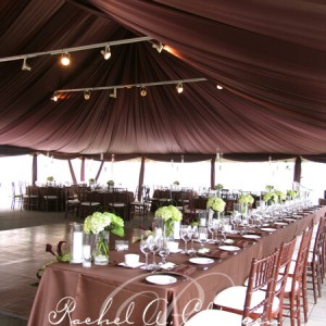 Wedding tent draping and lighting Toronto