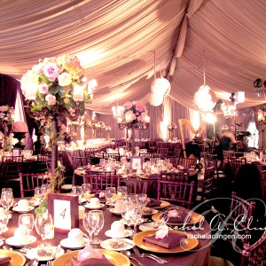 Luxurious flowers and draping for Wedding Tents in Toronto