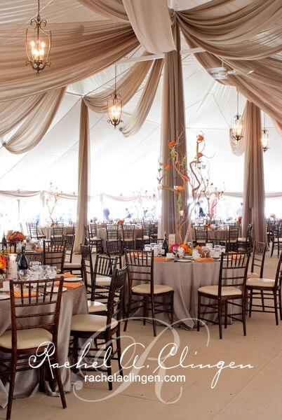 cascading wedding tent ceiling draping and flowers toronto wedding decor toronto rachel a. Black Bedroom Furniture Sets. Home Design Ideas