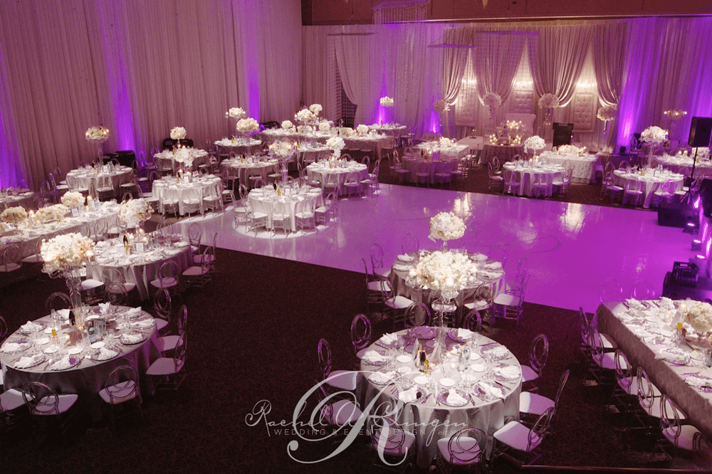 Room draping Paramount Banquet Hall wedding Toronto