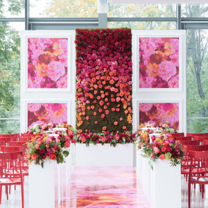 Floral Wall Wedding Decor Royal Conservatory of Music Toronto