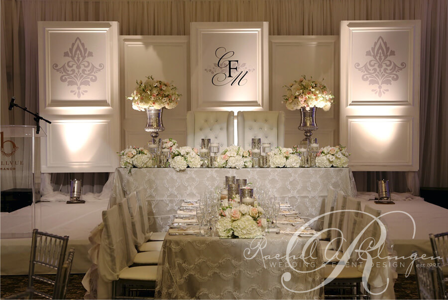 Monogrammed Wedding Backdrop By Rachel A Clingen Design And Decor