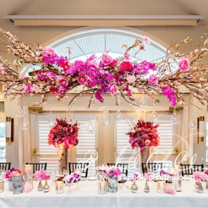 Canopy head table at Taboo for a luxurious Toronto Wedding