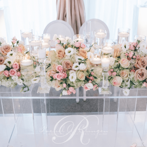 Tent wedding head table flowers Toronto