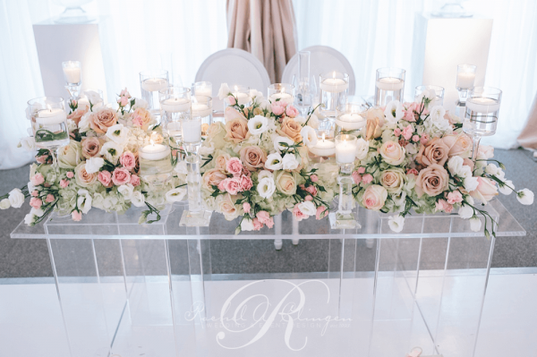 Tent Wedding Head Table Flowers Toronto Wedding Decor