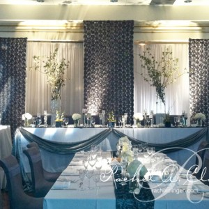 Luxurious modern wedding backdrop by Rachel. A. Clingen