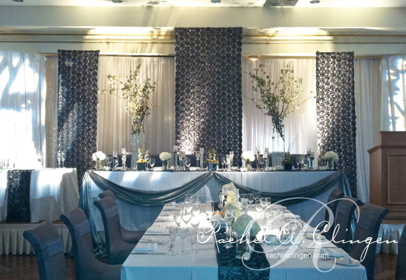 Luxurious Modern Wedding Backdrop By Rachel A Clingen