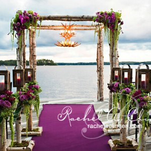 Muskoka lake side wedding ceremony