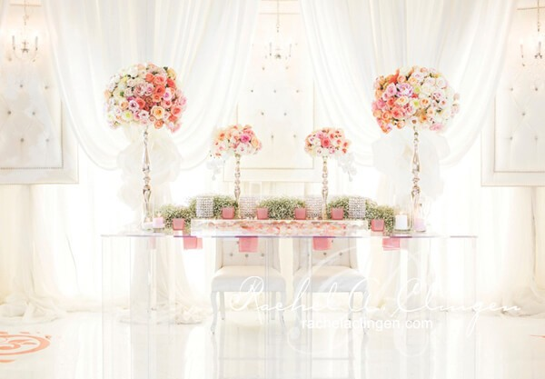 Lucite Table Used For A Wedding Head Table Design At A Toronto Wedding By  Rachel A Part 44