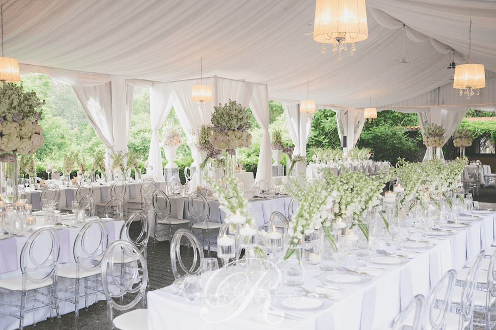 Wedding tent draping Miller Lash House Toronto