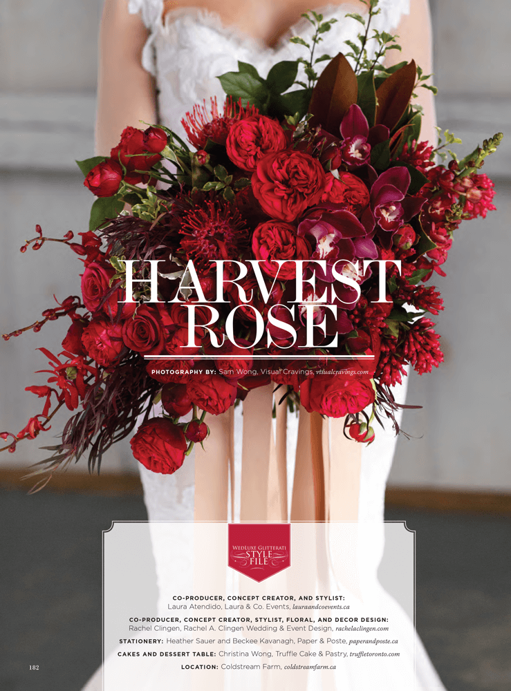 Harvest Rose - A Beautiful Autumn Wedding Featured In WedLuxe Magazine