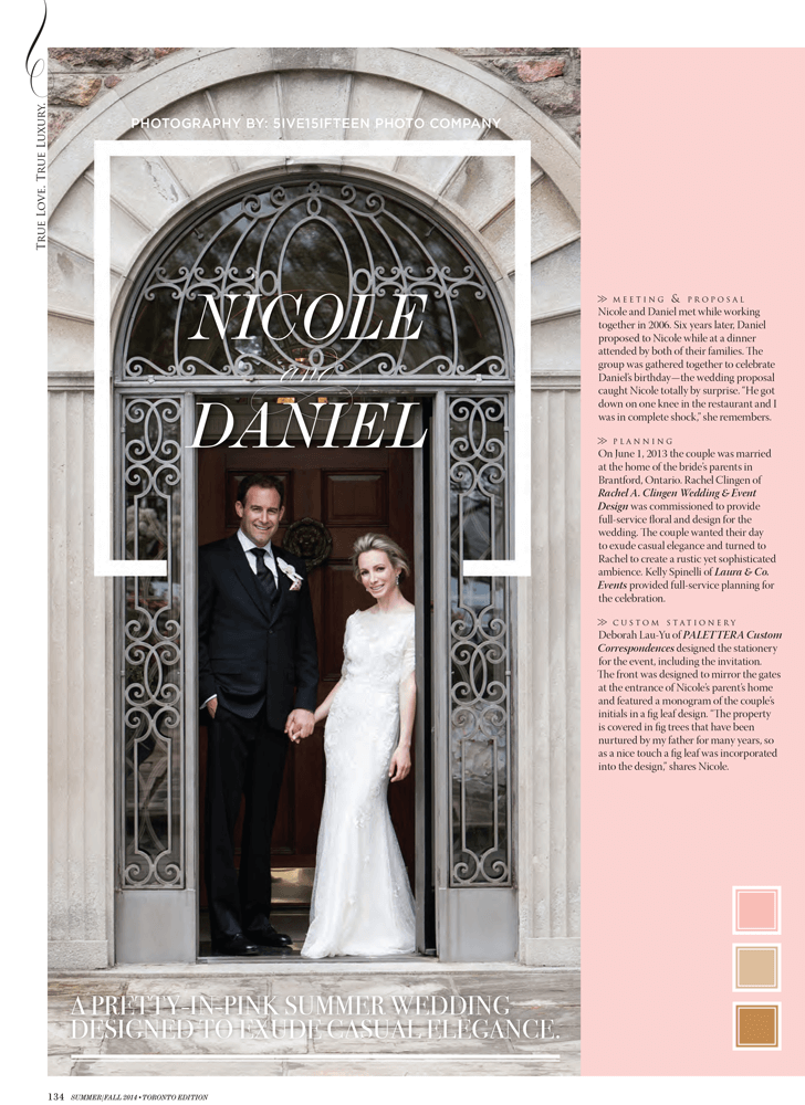 Nicole and Daniel - A Real Wedding By Rachel A. Clingen Wedding Design, Decor and Flowers