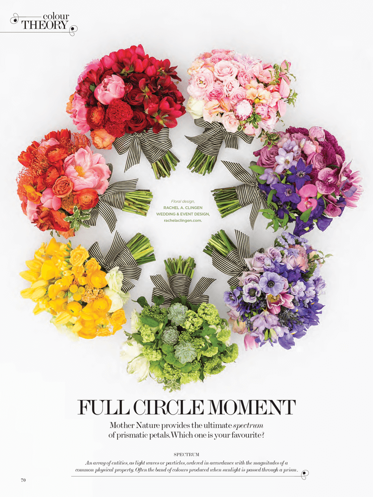 WedLuxe Wedding Creative Feature - Colour Theory by Rachel A. Clingen
