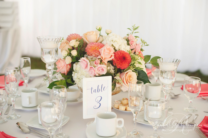 Coral-Pink-Peach-Flowers-Centrepieces