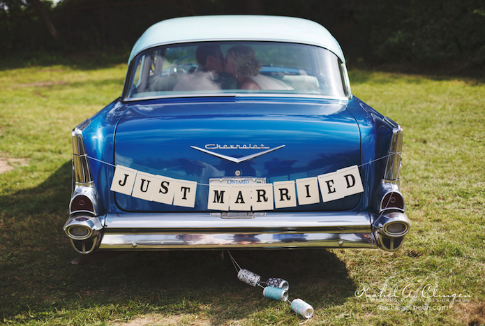 Just-Married-Vintage-Car