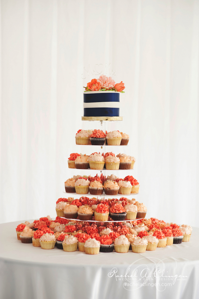 Peach-Coral-Wedding-Cupcakes
