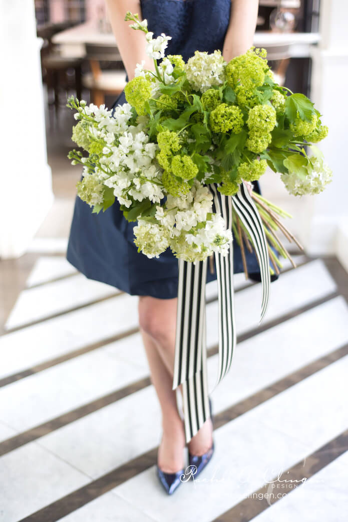 Green-White-Navy-Bridal-Shower-Flowers