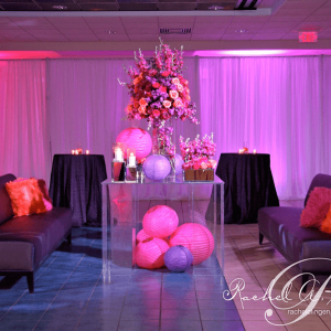 Stunning corporate event decor, lighting and draping Toronto events