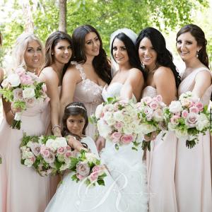 Light pink & white, fresh rose wedding bouquets Toronto