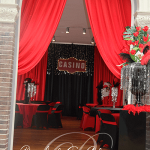 Casino night decor and decorations for Toronto